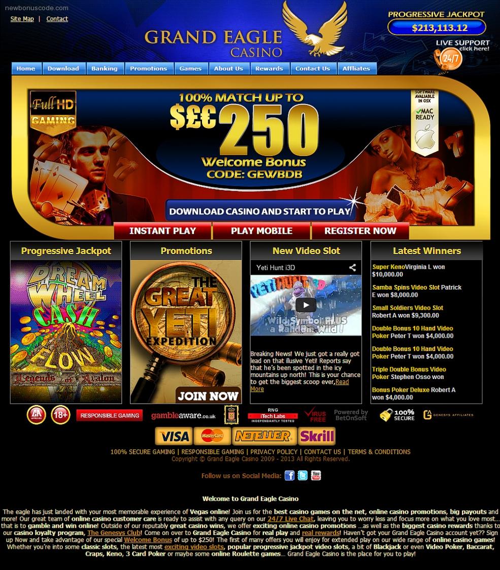 гранд казино онлайн бонус