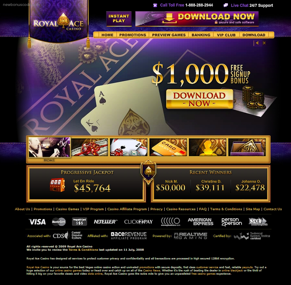no deposit bonus codes for royal ace casino