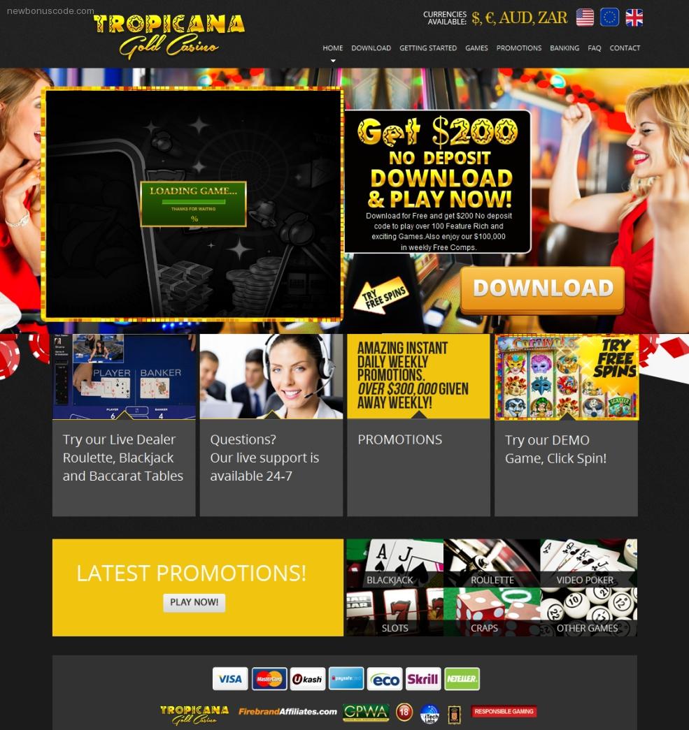 Tropicana casino review casino slot tip trick